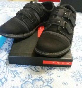 Туфли осенние нубук кожа натуральные размер 37
