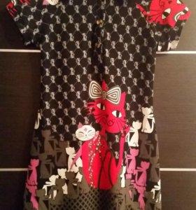 Половер свитер туника платье 48 50 зима