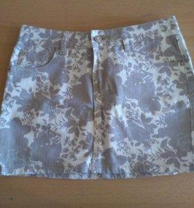 Джинсовая юбка Incity с цветочным принтом