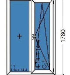 Пластиковое окно супертепло Rehau Sib 1100x1780