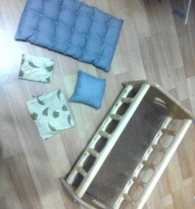 Кроватка деревянная игрушечная