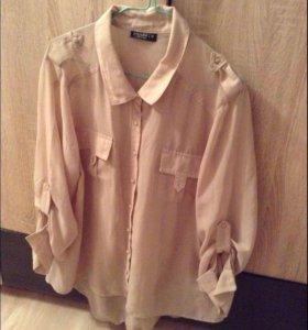 Удлинённая шифоновая рубашка