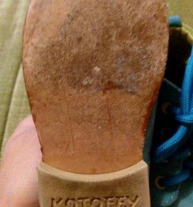 Замшевые ботинки, р.22