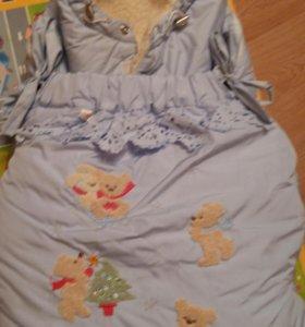 Конверт-одеяло меховой