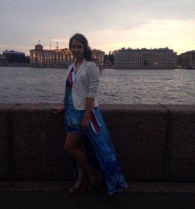 Выпускное платье (голубое)