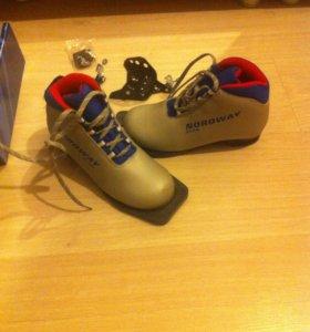 Лыжные ботинки новые 34 размер