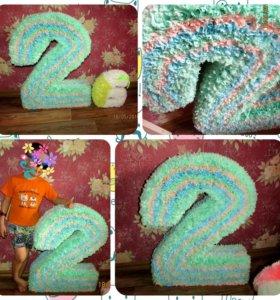 Объемная цифра для фотосессий, для дня рождения