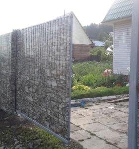 Установка заборов и откатных и распашных ворот.