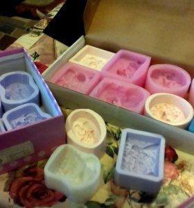 Новогодние Формы для мыла силиконовые и пластик