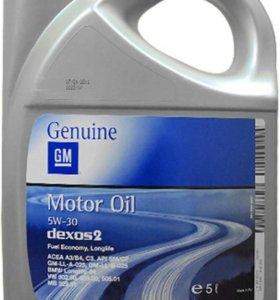 GM масло моторное синтетическое Dexos2 5w30 5 л.