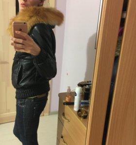 Куртка из нат.кожи и меха лисы