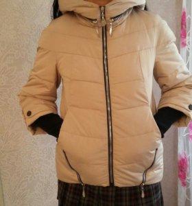 Куртка на тисулине,теплая