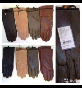 Перчатки кожаные, 7 р-р, 8 р-р, 4 цвета