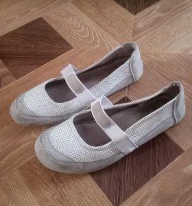 Белые балетки, туфли 36
