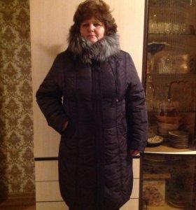 Пуховик-пальто зимнее