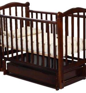 Кровать из натуральн. дерева, в подарок эко матрас