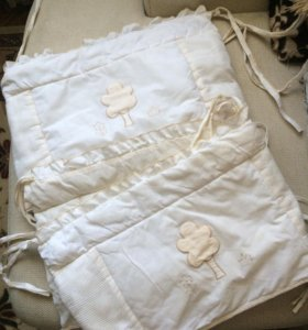 Комплект в кроватку ( бортики и балдахин, натяжная