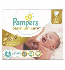 Подгузники Pampers Premium care 2ка 148шт