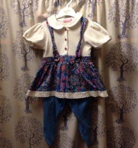 Платье комбезик для девочки 68