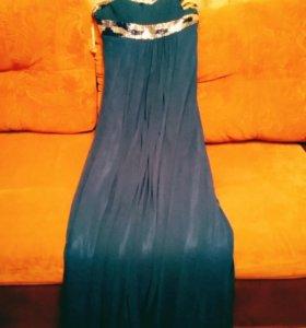 Синие платье для девушки.