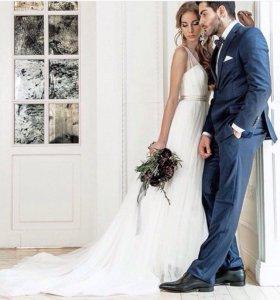 Свадебное платье!идеальное,лёгкое,воздушное!торг