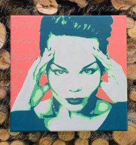 Портрет по фото в стиле поп-арт на заказ