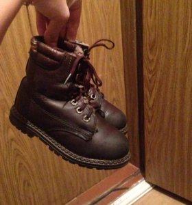 Продам детские зимние ботинки нат.мех и кожа