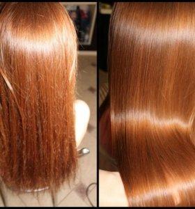Коллагеновое обертывание + полировка волос