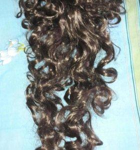 Волосы- локоны на заколке