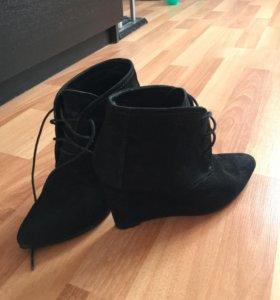 Ботинки Zara, нат. Замша, 38 р.