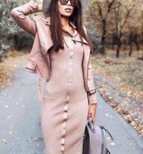 Платье лапша нежно розовое