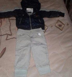 Куртка со штанишками утеплеными.