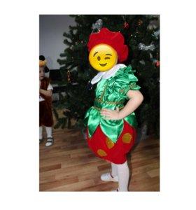 """Новогодний костюм для девочки """"клубничка"""""""