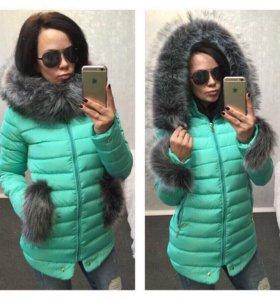 Новая зимняя куртка 48р
