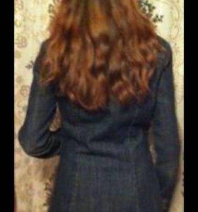 Пальто джинсовое длинное 42-44/160-165