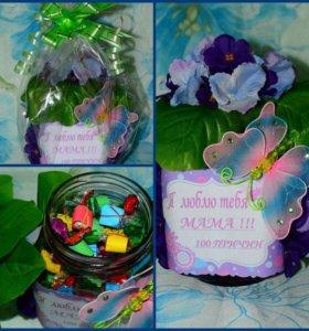 Для мамы ( с конфетами)