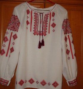 Блуза с длинным рукавом из натуральной ткани
