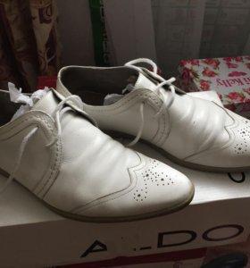 Туфли белые летние мужские