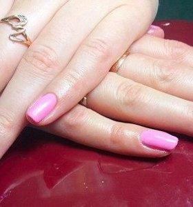 Покрытие гель-лаком и наращивание ногтей
