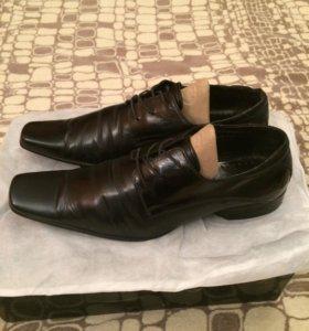 Мужские ботинки 42 р. кожа