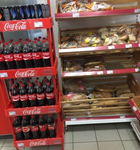 Стойки coca   cola