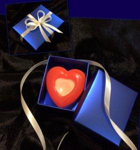 Мыло сердце ручной работы в коробочке