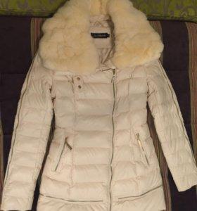 Пальто женское Zilanliya м (42-44) эко-кожа зима