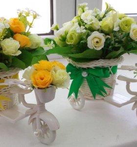 Топиарии,цветочные композиции.
