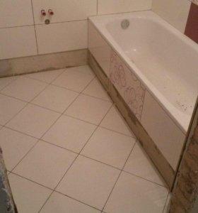 Укладка плитки Ванная комната под ключ