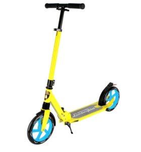Самокат с большими колесами для детей и взрослых