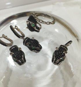 Серьги, кулон, кольцо