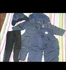 Курточка + 2 комбеза + шапка+ штанишки под низ