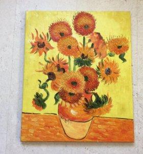 Картина маслом, копия картины Ван Гога, 50х60 см
