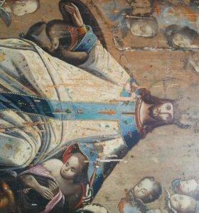 Икона 19 век Господь Царь Царей.